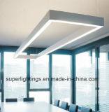 중단된 거치된 실내 선형 LED 빛
