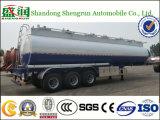 Un combustibile dei 50 dell'olio M3 del serbatoio del camion del rimorchio del acciaio al carbonio dell'autocisterna assi del rimorchio 3 che trasporta semi rimorchio