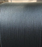 Corde 6X25fi de fil d'acier d'Ungalvanized