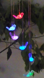カラー変更のガラス玉の庭が付いている太陽風のチャイムライト