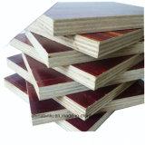 La película de 18mm Brown enfrentó la hoja de madera contrachapada, encofrados de madera contrachapada de materiales de construcción