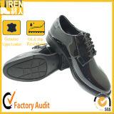 Echtes Leder-Schwarz-Breathable Büro-Schuhe