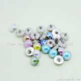 Acessórios para calçado artesanal semi circular Pearl rebites decorativa com Base