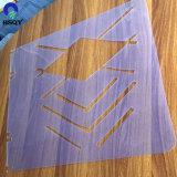 900*1200mm衣服のテンプレートのための影響が大きい透過PVCシート