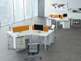 Mobilier de bureau moderne de 4 personne directement la station de travail de bureau (HF-BSP003)