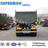 25-28cbmダンプカーのトレーラーをひっくり返す三車軸砂の石炭輸送のダンプ