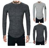 OEM 상표 고품질 면 순수한 색깔 바디 적당한 긴 소매 t-셔츠
