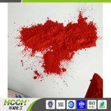 Os pigmentos em pó na cor vermelha brilhante