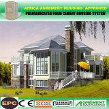 Chalet prefabricado de la estructura de acero de la luz de la casa con la Sistema Solar