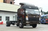 La Chine lourds HOWO Commandant 148 chevaux vapeur 4.2 mètre Bunker de camion léger, simple rangée avec des performances fiables