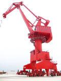 중국 조선소 이동할 수 있는 콘테이너 지브 문 기중기