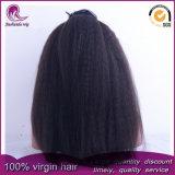 Kinky droites/Yaki vierge chinoise perruque de cheveux dentelle avant