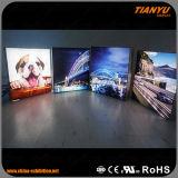 높은 광도 광고를 위한 알루미늄 직물 LED 가벼운 상자