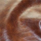 Couro sintético de alta qualidade PU couro couro sintético louco Hourse (768 #)