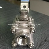 2000wog de alta presión 3 Piezas rosca de la válvula de bola