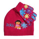 Ensemble de chapeaux et gants tricotés (JRK096, JRK097)