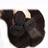 人間の毛髪の拡張インドの安い価格のバージンのまっすぐによこ糸