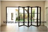 Innenschiebende Stall-Tür-französische Eisen-Glastür für Esszimmer