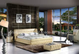 C021米国式の新しいモデルの革ベッドの家具