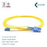 LC para SC duplex de PVC Sm Fiber Optic Patch de Alimentação