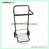 Facile installare il carrello verde pieghevole del collettore di immondizia