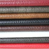 Cuir synthétique gravé en relief de bonne qualité de PVC pour le capitonnage de meubles de sofa
