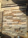 Камень уступчика Quartize, кварцит штабелировал камень и плакирование стены Quartize