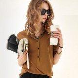 Рубашка новой втулки кофточки Ol офиса длинней шифоновая плюс кофточки повелительниц размера для рубашки работы женщин