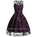 Vestito da sera Sleeveless del vestito da promenade del pannello esterno elegante del merletto