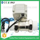 2 valvola a sfera motorizzata elettrica dell'acqua di controllo della valvola a sfera dell'acciaio inossidabile di modo NSF61 con il funzionamento manuale
