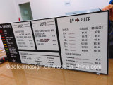 Menu Boards Restaurant Fast Food를 위한 LED Display Light Box