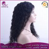 Moyennes à long Curly sèche avant d'onde vierge brésilien Lace Wig