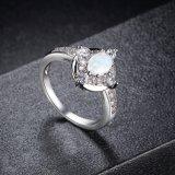 Ring van de Juwelen van Zircon van het Ontwerp van de Verkoop van de Juwelen van de manier de Hoogste Trendy Opalen