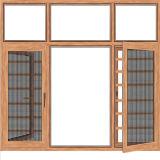 Haut Conception Triple fixe les volets en aluminium avec le bois de couleur de la fenêtre à battant