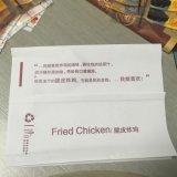 Paquete de alimentos de PVC Papel Sellado botón y la máquina de corte
