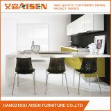 Gabinetes de cozinha luxuosos modernos brancos da laca
