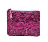 Pinkfarbenes Farben-Schlange-Muster PU-kleine Dame-Kupplungs-Fonds-Beutel