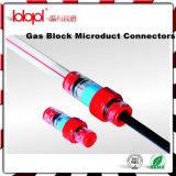 Conetor do bloco do gás (anel amarelo), conetores da selagem do cabo da fibra óptica do duto 14/10mm