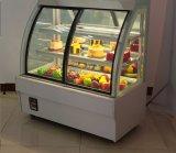 Torta accurata di vetro anteriore Tempered di disegno del sistema di raffreddamento del ventilatore che video vetrina
