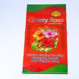 Напечатано PP пластиковые мешки 50кг удобрений мешков риса мешок для упаковки