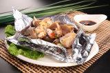 papel de aluminio del hogar de la categoría alimenticia de 8011-O 0.010m m para el alimento de mar de la asación