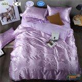女王の羽毛布団カバーベッド一定プリント黒の寝具のサテンの絹の寝具のアウトレット