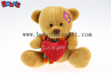 "5.1 "" Small Size Grey Plush Teddy Bear Toy with I Coils You Heart Pillow Bos1109"