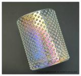 명확한 유리제 촛대를 도금하는 도매 가벼운 다채로운 이온