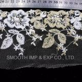 Accesorio de vestido de encaje bordado hilo Net Decoración textil de cinta de tela