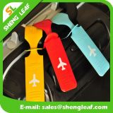 Étiquette de bagage en PVC souple imperméable et bon marché personnalisé