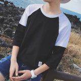 De in het groot Korte Mensen Van uitstekende kwaliteit van de Overhemden van Dri van de Koker Streetwear Geschikte breidden Gebogen Lege T-shirts 100 van de T-shirt van de Boord Katoen uit in Massa