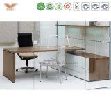 オフィス用家具のメラミンラップトップモジュラー木表のオフィスのカウンター表デザイン安いオフィスワークの机