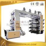 Maquinaria de impressão Flexographic das cores do doutor lâmina 8