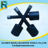Diamant brasée haute vitesse de base de l'équipement de forage de bits